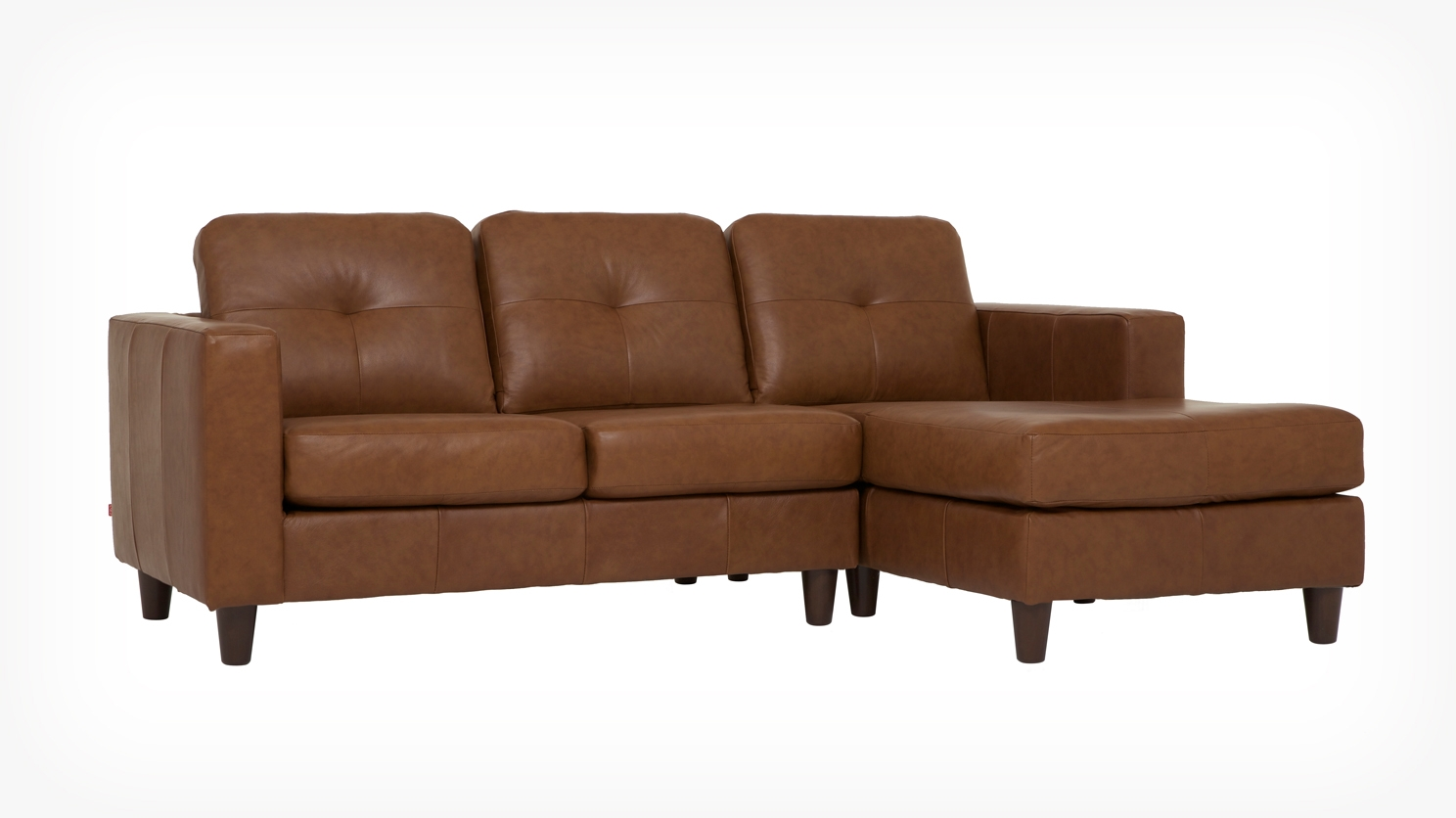 Solo 2 Piece Sectional Sofa With Chaise Leather Eq3